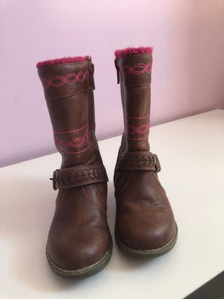 Brown leather boots infant size 6 from VERY