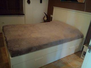 Canapé cama Brimnes Ikea con Cabecero 160x200cm