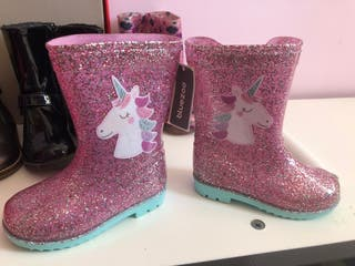 Girls unicorn wellies infant size 6