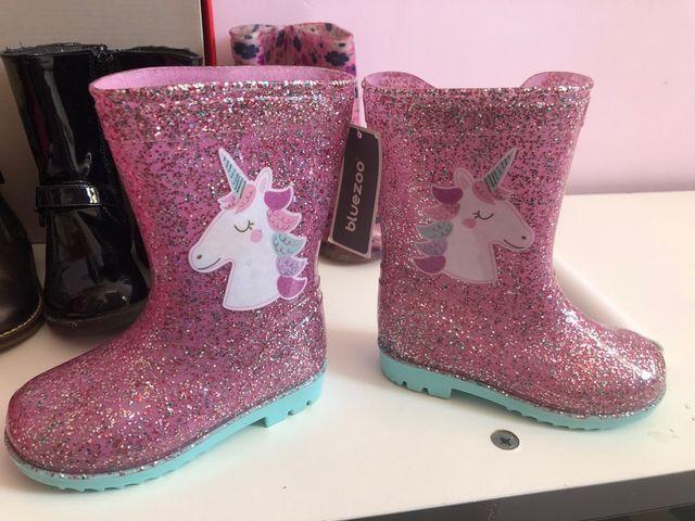 Girls unicorn wellies infant size 6