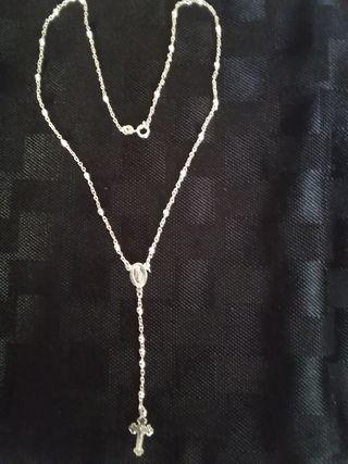 collar Rosario de plata