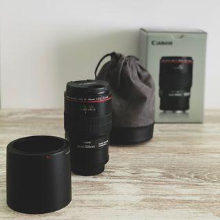 Objetivo Canon 100mm f/2.8L Macro IS USM