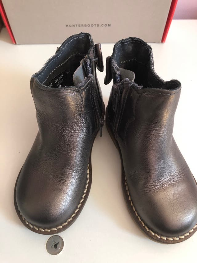 Girls NEXT ankle boots, shimmering brown