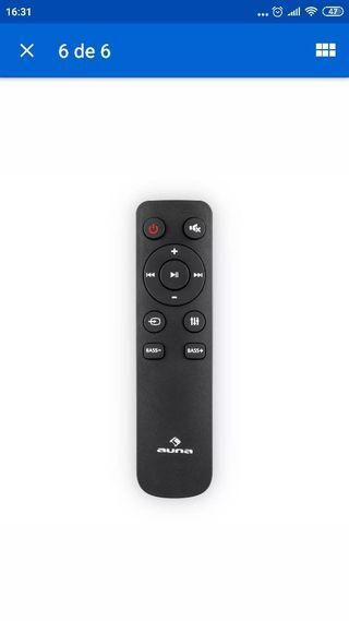 barra sonido y cajón tv