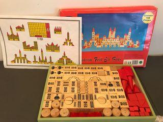 Juego castillos de madera