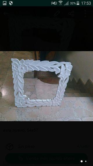espejo de madera ...blanco
