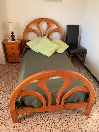 cama, mesilla y tocador