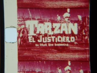 CINE SUPER8. TARZAN EL JUSTICIERO 1960
