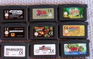 juegos gba: zelda, final fantasy, donkey kong, etc
