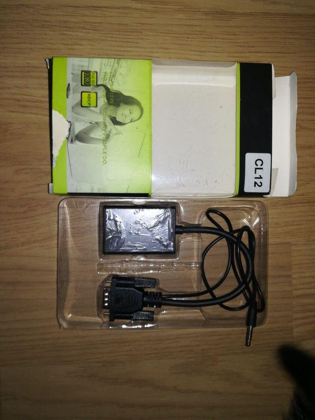 cable conversor de VGA a HDMI