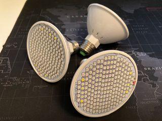 3 Bombillas de cultivo espectro completo E27