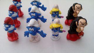 Set de figuras de Los pitufos