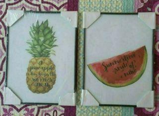 cuadros frutas precintados
