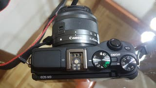 Camara evil Canon Eos M3 objetivo 18-55