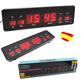Reloj digital PARED o sobremesa LED pantalla fecha