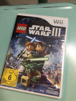 Juego Wii Lego Star Wars III precintado nuevo