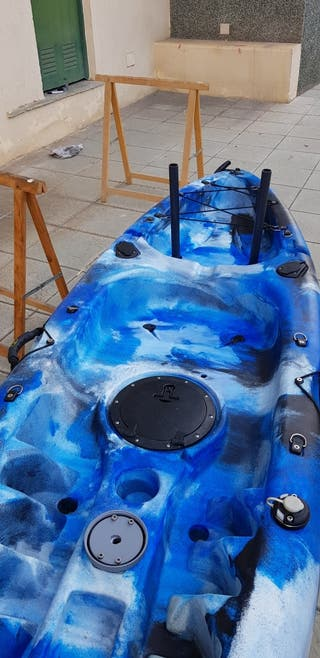 kayak con sonda