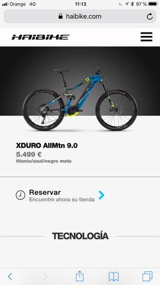Bicicleta electrica haibike xduro allmountain 9.0