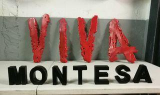Letrero de VIVA Montesa