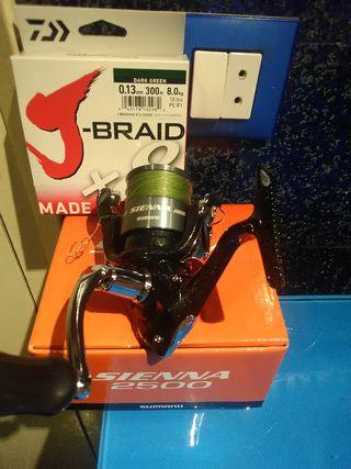 Shimano Sienna 2500+ trenz Daiwa 8x J Braid 300m