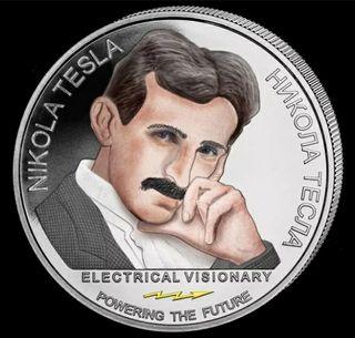 Moneda Plata Nikola Tesla 1 onza 2019