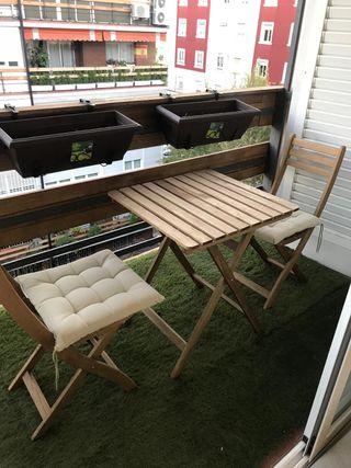 Sillas y mesa jardín IKEA modelo ASKHOLMEN