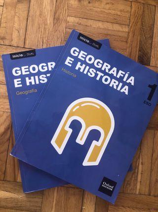 LIBROS GEOGRAFÍA E HISTORIA 1 ESO