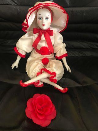 Muñeca Arlequín de cerámica