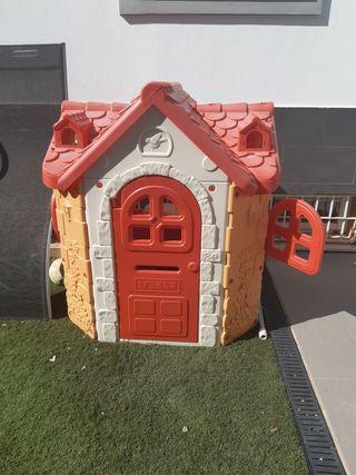 casita juguete jardín