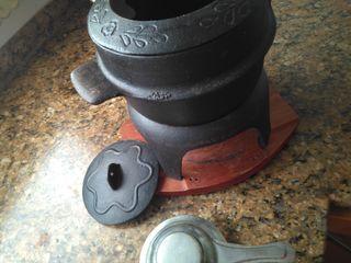 olla fondue hierro fundido