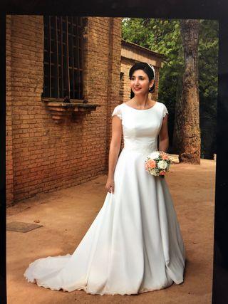 calidad de marca en venta construcción racional Vestido de novia talla grande de segunda mano en WALLAPOP