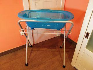 bañera bebé con patas plegables
