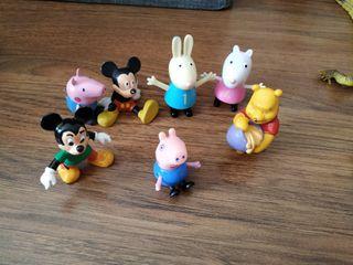 Figuras Peppa Pig y disney