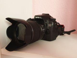Cámara fotos Réflex Canon 70D + Equipo