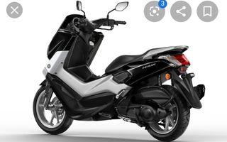 e scooter de 125cc negra solo cambio