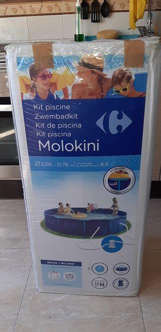piscina +regalo skimmer + 5k de pastillas + parche