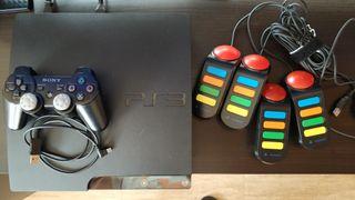 PS3 SLIM en buen estado con extras v4.83