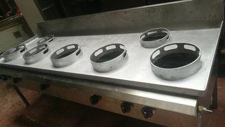 cocina de 7 fuegos