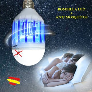 Bombilla LED 15w anti - mosquitos Insectos + LUZ