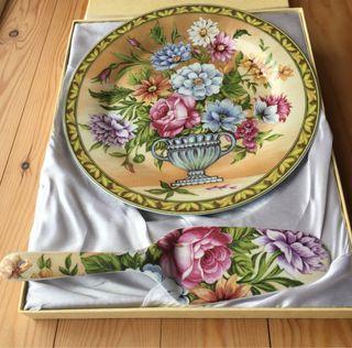 Plato para tarta y pala de servir