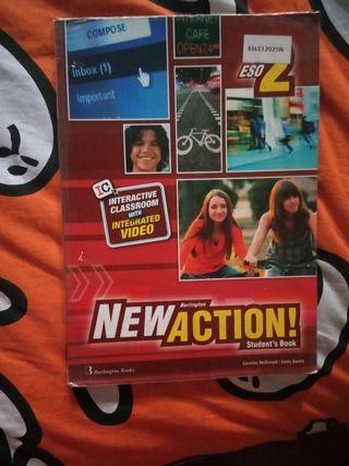 """Libro de inglés """"NEWACTION"""" 2°ESO"""