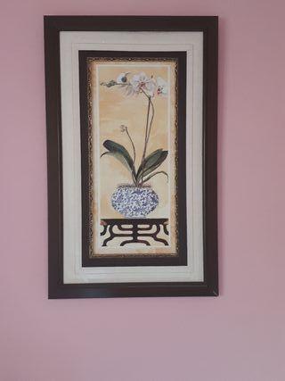cuadro flores oriental