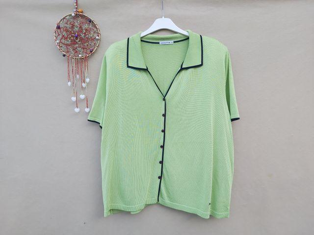 Naulover suéter verde de punto Talla XXL