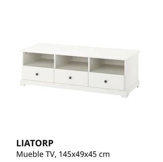 Mueble de TV de color GRIS serie LIATORP IKEA