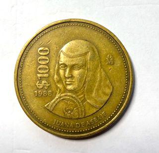 Moneda de 1000 $ mexicanos
