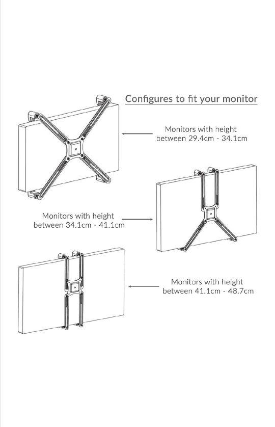 Adaptador monitor Non Vesa