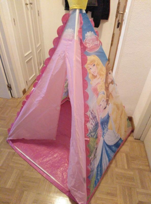 Tienda de campaña princesas