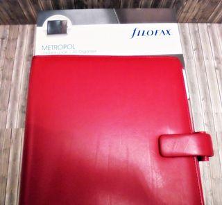 Agenda Filofax en rojo. Elegante y práctica agenda