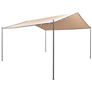 vidaXL Cenador carpa 4x4 m de acero beige 43169