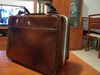 Maleta viaje vintage piel original